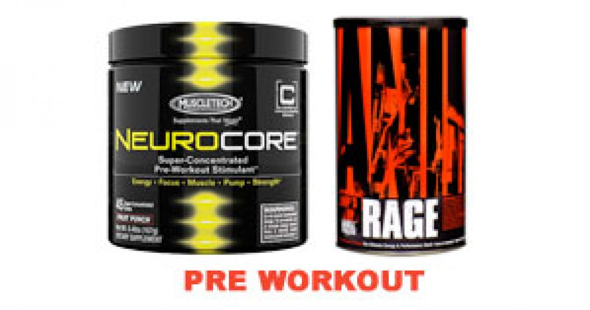 Pre-Workout Product List