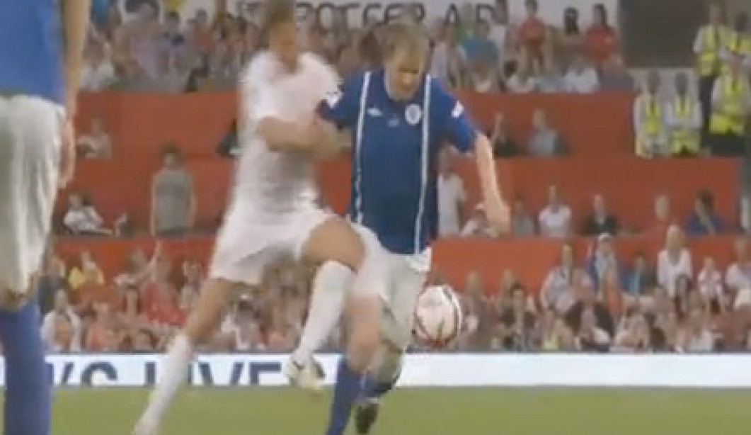 Celebrity Chef Gordon Ramsay Clobbered in Charity Soccer Game