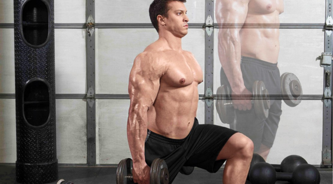 Step Back For Size Dumbbell Reverse Lunge