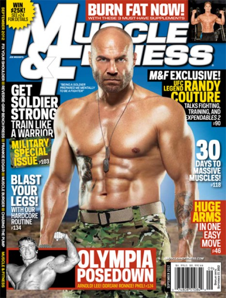 Randy Couture and Everything Olympia in September's Muscle & Fitness