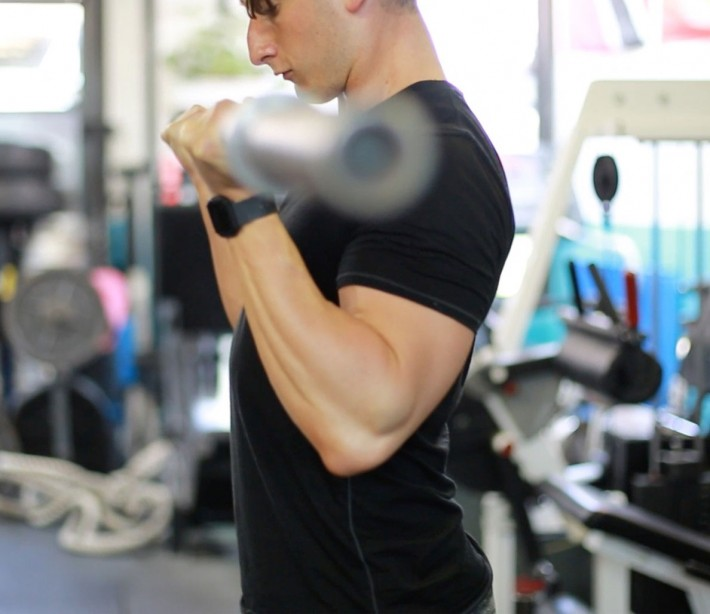 The sleeve-splitting arms workout