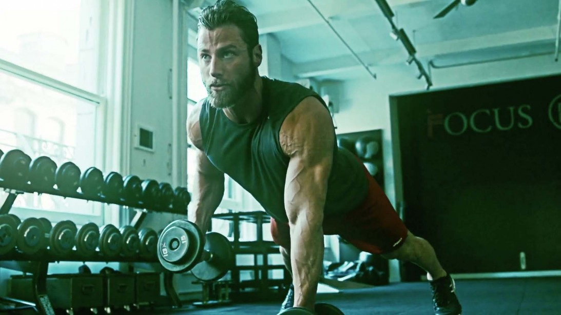 Trainer Tim McComsey demonstrates the Men's Fitness Spring Trim-Up workout plan.