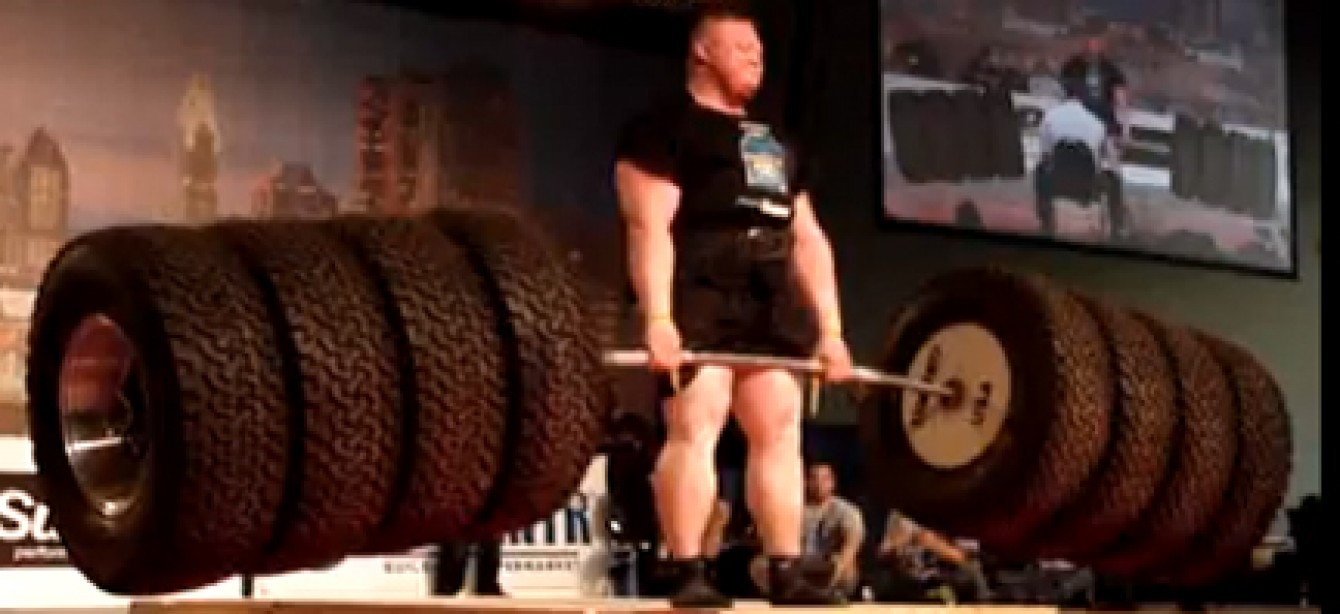 M&F Clip of The Day: Benedikt Magnusson's 1100 Tire Deadlift WORLD RECORD!