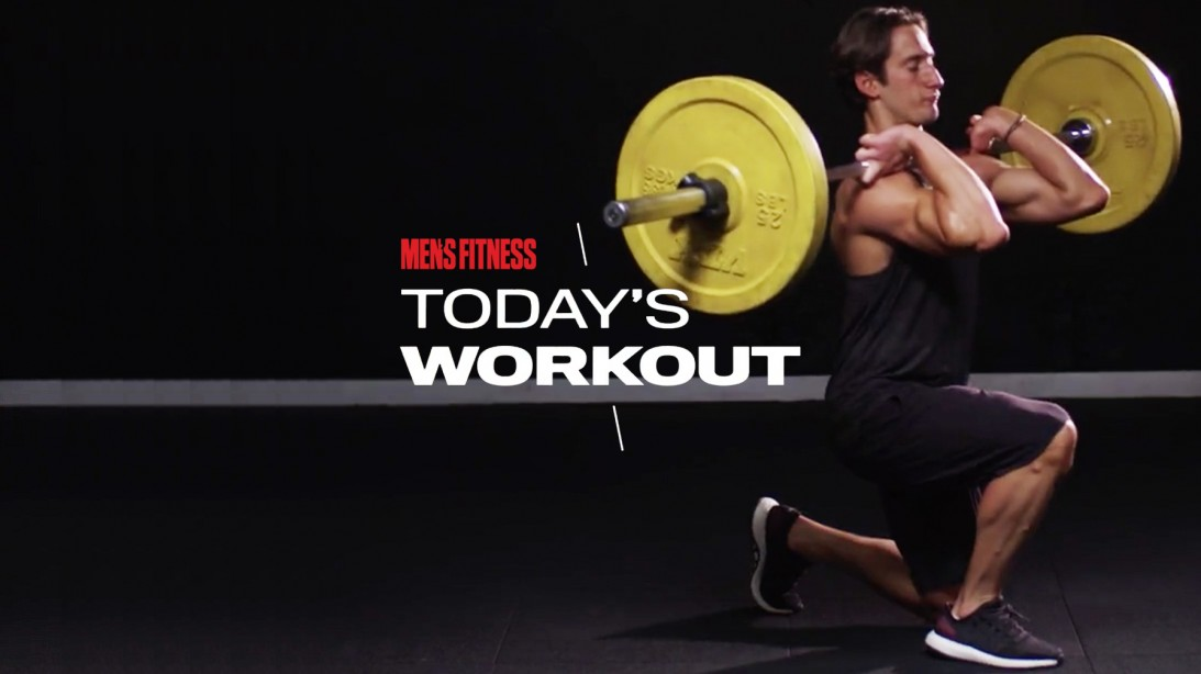 Mike Simone Does Barbell Front Squat During Lower-Body Workout