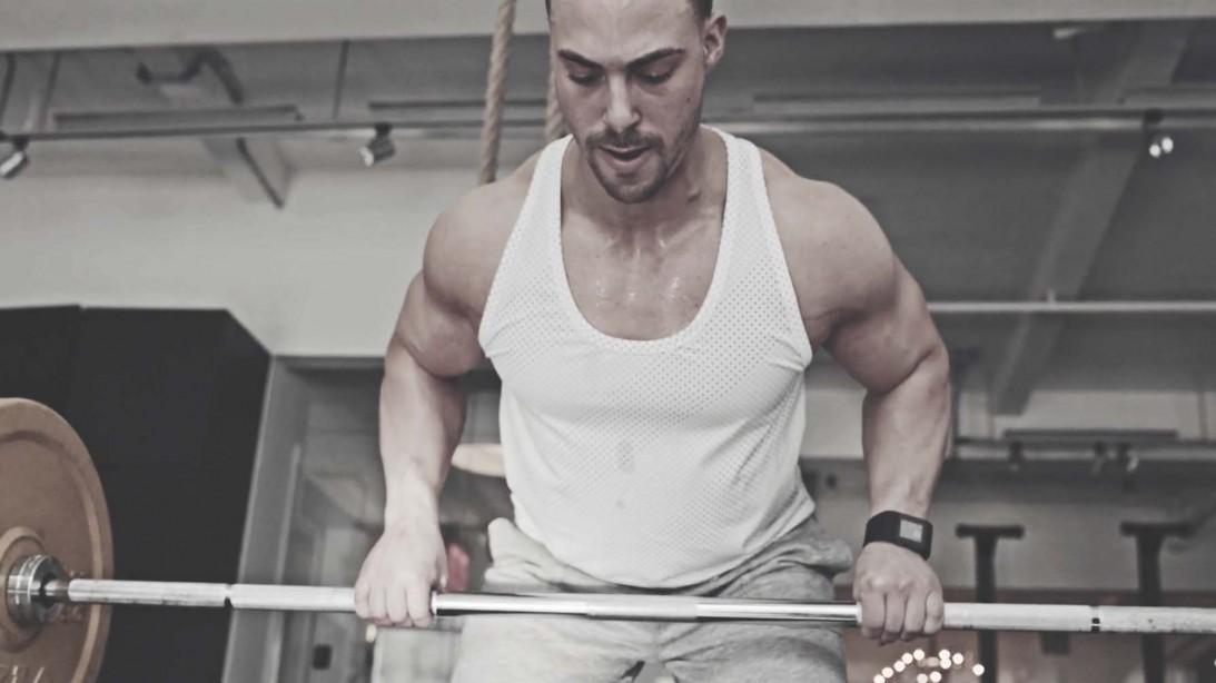 Michael Beringer demonstrates the Men's Fitness Transition workout plan.