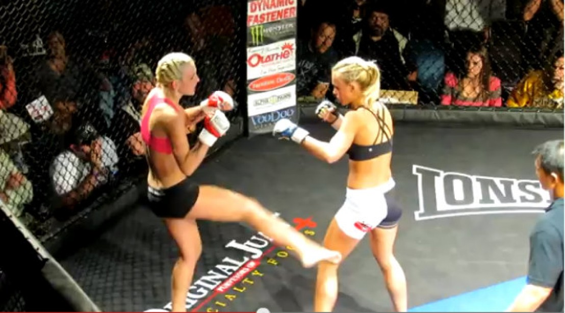 NFL Cheerleader steps into the MMA Octagon [VIDEO]