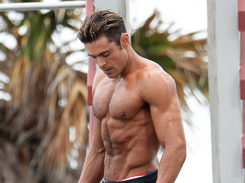 Zac Efron Shoots On Location In Miami Beach, Florida For 'Baywatch'