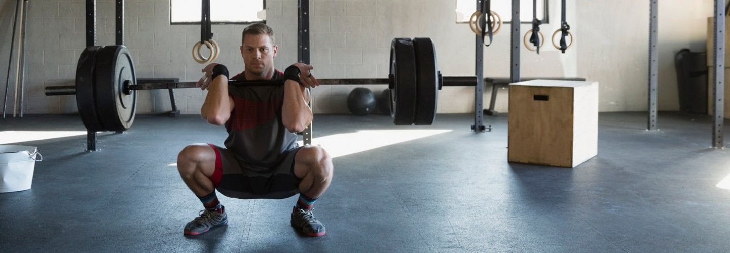 Barbell front squat exercise thumbnail