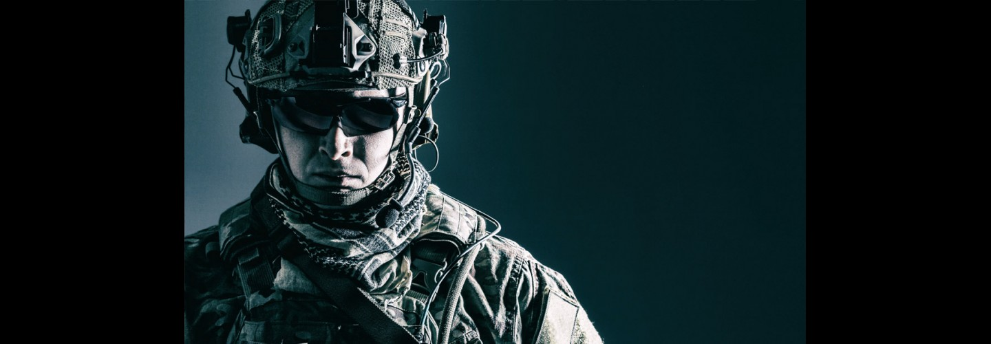 Profile-Shot-Of-Armed-Forces-In-Battle-Gear thumbnail
