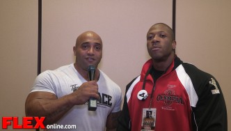 2014 Olympia Athlete Meeting - Shawn Rhoden