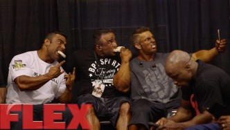 2015 Olympia Pump Up Room: The Men