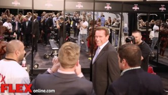 2014 Olympia Pump Up Room: Arnold Schwarzenegger!