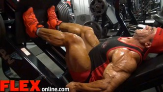 Behind the Scenes: Baitollah Abbaspour Trains Legs the day after the 2014 New York Pro.