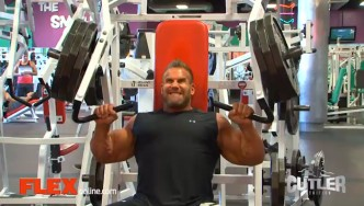 Jay Cutler Trains Chest and Triceps