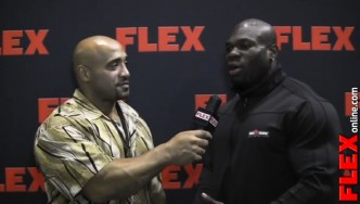 DJ Interviews Lionel Beyeke at the '13 Mr. Olympia Prejudging