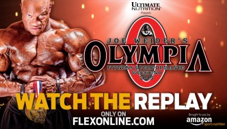Watch the Replay of the Friday Night Show from Mr. Olympia !