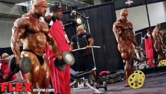 2014 Olympia Pump Up Room: Men's Open Division!