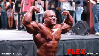 Phil Heath Guest Posing at the 2014 Phil Heath Classic