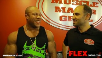 Phil Heath Visits Muscle Maker Grill
