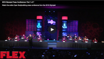 2016 Olympia Press Conference: Part 1 of 7