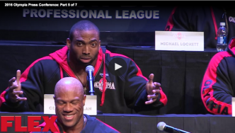 2016 Olympia Press Conference: Part 5 of 7