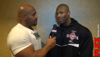 Shawn Rhoden at the 2013 Olympia Athlete Meeting