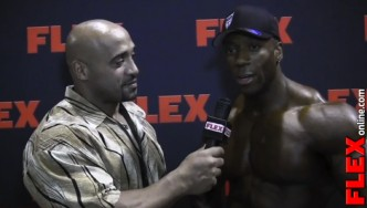 DJ Interviews Shawn Rhoden at the '13 Mr. Olympia Prejudging