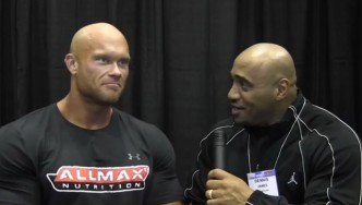 Ben Pakulski before the 2013 Arnold Classic