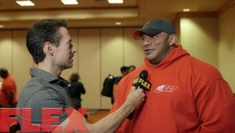 Big Ramy at the 2015 Mr. Olympia Athlete Meeting