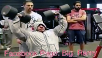 Big Ramy Trains Shoulders in Preparation for 2015 Olympia