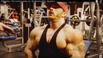 Flex Lewis Trains Chest & Shoulders 5 Weeks From 2015 Olympia