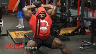 Kai Greene Trains 5 Weeks Before the 2014 Olympia