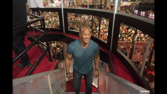 At the 2016 Olympia with The Rock