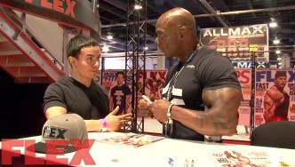 2017 Olympia Expo Booth: Flex Wheeler