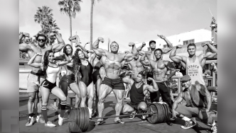 A Star-Studded Photo Shoot at Muscle Beach, CA