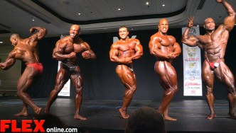 2015 NY Pro Open Bodybuilding Final Posedown and Awards