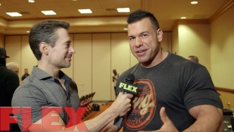 Steve Kuclo at the 2015 Mr. Olympia Athlete Meeting