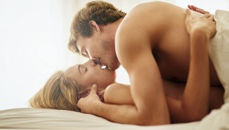 Man and Woman in Bed - Sex