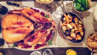 Miniatura de alimentos saludables para las fiestas