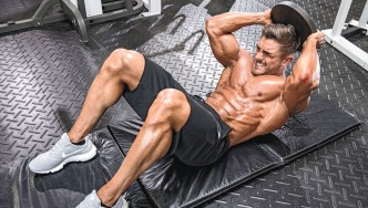 Ryan Terry Performing Weighted Crunch
