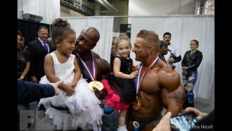 Backstage with the 2018 Olympia Champions