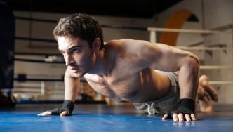 Boxer-Doing-Pushup-In-Boxing-Ring