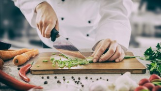 Chef-Chopping-Scallions-Cutting-Board-Chef-Knife-Prep