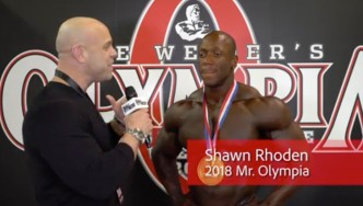2018 Mr. Olympia Champion Shawn Rhoden