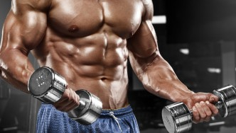 Dumbbells-Forearm-Abs-Muscular-Body