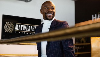 Floyd Mayweather at the Mayweather Boxing + Fitness in Los Angeles.