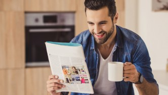 Hip-Guy-Drinking-Coffee-Reading-Magazine