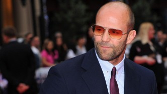 A photo of Jason Statham at the Expendables 3 premiere.  thumbnail