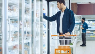 Male-Shopping-Frozen-Food-Section-And-Aisle