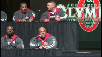 Phil Heath and Shawn Rhoden Have Heated Exchange